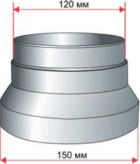 Переходник на гофру D 150/125/100/80 мм