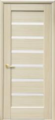 Дверь  Ностра ясень Линнея (со стеклом сатин) ПВХ DeLuxe Новый стиль