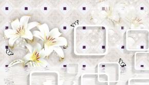 фотообои 3D белые лилии 18688