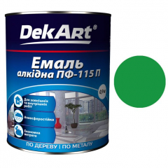 Эмаль ПФ-115 DekArt Зеленая  0,9 кг