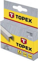 Скобы тип 53  10мм каленые, 1000шт Topex 41E310