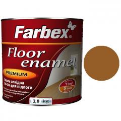 Эмаль для пола ПФ-266 Farbex Желто-коричневая  2,8 кг