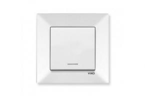 Viko Meridian белый Выключатель 1-й с подсветкой